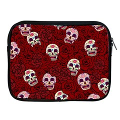 Funny Skull Rosebed Apple iPad 2/3/4 Zipper Cases