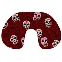Funny Skull Rosebed Travel Neck Pillows