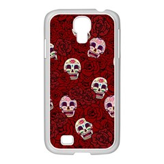 Funny Skull Rosebed Samsung GALAXY S4 I9500/ I9505 Case (White)