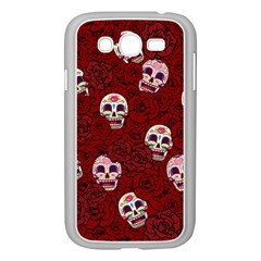 Funny Skull Rosebed Samsung Galaxy Grand DUOS I9082 Case (White)