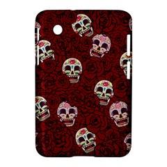 Funny Skull Rosebed Samsung Galaxy Tab 2 (7 ) P3100 Hardshell Case