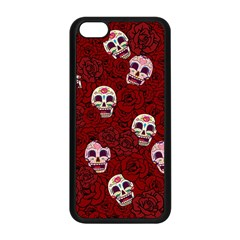Funny Skull Rosebed Apple iPhone 5C Seamless Case (Black)