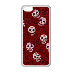 Funny Skull Rosebed Apple Iphone 5c Seamless Case (white)