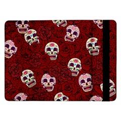 Funny Skull Rosebed Samsung Galaxy Tab Pro 12.2  Flip Case