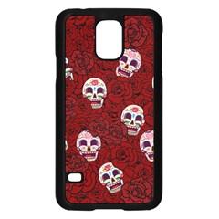 Funny Skull Rosebed Samsung Galaxy S5 Case (Black)