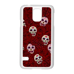 Funny Skull Rosebed Samsung Galaxy S5 Case (White)