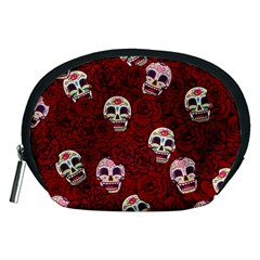 Funny Skull Rosebed Accessory Pouches (Medium)