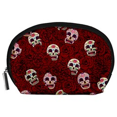 Funny Skull Rosebed Accessory Pouches (Large)