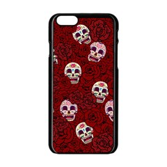 Funny Skull Rosebed Apple iPhone 6/6S Black Enamel Case