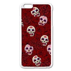 Funny Skull Rosebed Apple iPhone 6 Plus/6S Plus Enamel White Case