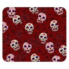 Funny Skull Rosebed Double Sided Flano Blanket (Small)
