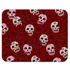 Funny Skull Rosebed Double Sided Flano Blanket (Medium)