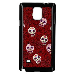 Funny Skull Rosebed Samsung Galaxy Note 4 Case (Black)