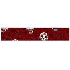 Funny Skull Rosebed Flano Scarf (Large)