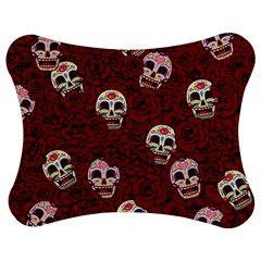 Funny Skull Rosebed Jigsaw Puzzle Photo Stand (Bow)