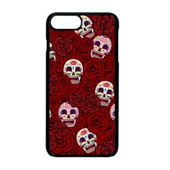 Funny Skull Rosebed Apple iPhone 7 Plus Seamless Case (Black)