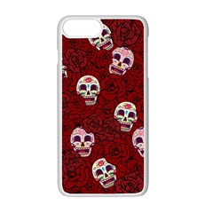 Funny Skull Rosebed Apple Iphone 7 Plus White Seamless Case