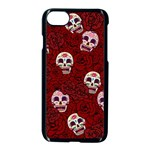 Funny Skull Rosebed Apple iPhone 7 Seamless Case (Black) Front