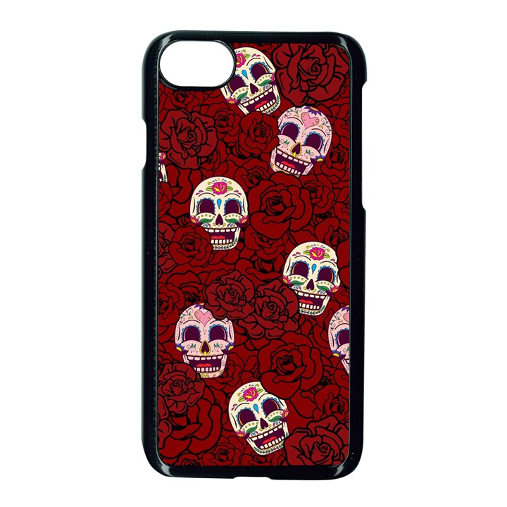 Funny Skull Rosebed Apple iPhone 7 Seamless Case (Black)