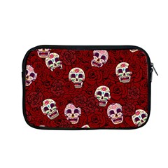 Funny Skull Rosebed Apple Macbook Pro 13  Zipper Case