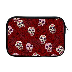 Funny Skull Rosebed Apple Macbook Pro 17  Zipper Case