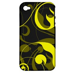 Floral pattern Apple iPhone 4/4S Hardshell Case (PC+Silicone)