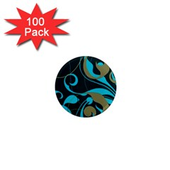 Floral pattern 1  Mini Magnets (100 pack)