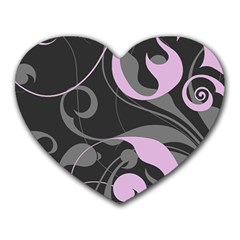 Floral pattern Heart Mousepads