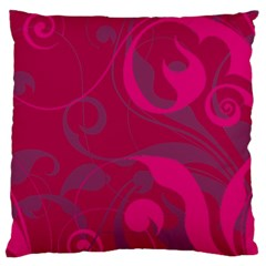 Floral pattern Standard Flano Cushion Case (One Side)