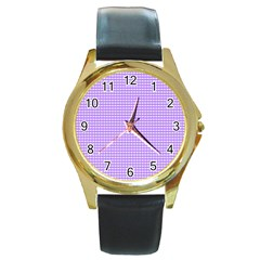 Color Round Gold Metal Watch
