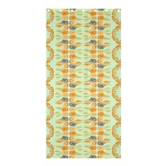 Ethnic Orange Pattern Shower Curtain 36  x 72  (Stall)