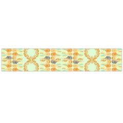 Ethnic Orange Pattern Flano Scarf (Large)