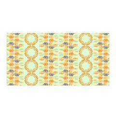 Ethnic Orange Pattern Satin Wrap