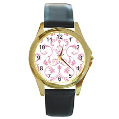 Ornament  Round Gold Metal Watch