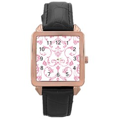 Ornament  Rose Gold Leather Watch