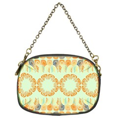 Ethnic Orange Pattern Chain Purses (Two Sides)