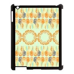Ethnic Orange Pattern Apple iPad 3/4 Case (Black)