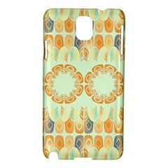 Ethnic Orange Pattern Samsung Galaxy Note 3 N9005 Hardshell Case
