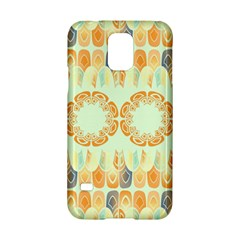 Ethnic Orange Pattern Samsung Galaxy S5 Hardshell Case