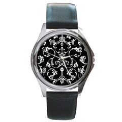 Ornament  Round Metal Watch