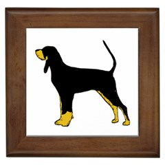 Black And Tan Coonhound Silo Color Framed Tiles