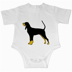 Black And Tan Coonhound Silo Color Infant Creepers