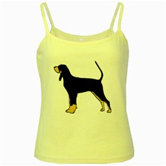 Black And Tan Coonhound Silo Color Yellow Spaghetti Tank
