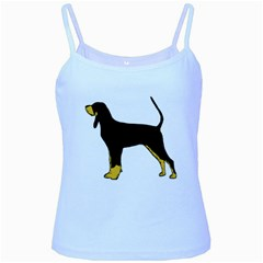 Black And Tan Coonhound Silo Color Baby Blue Spaghetti Tank