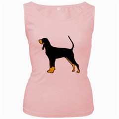 Black And Tan Coonhound Silo Color Women s Pink Tank Top