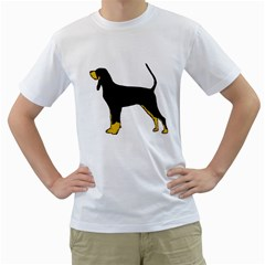 Black And Tan Coonhound Silo Color Men s T-Shirt (White) (Two Sided)