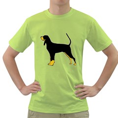 Black And Tan Coonhound Silo Color Green T-Shirt