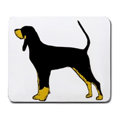 Black And Tan Coonhound Silo Color Large Mousepads