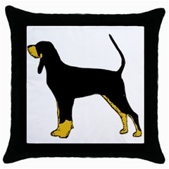 Black And Tan Coonhound Silo Color Throw Pillow Case (Black)