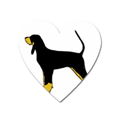 Black And Tan Coonhound Silo Color Heart Magnet